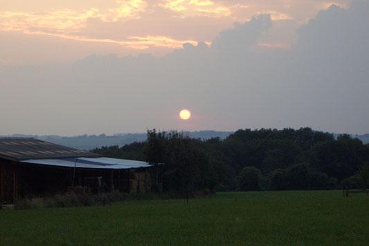 Zonsondergang - Ozo - Ardennen België
