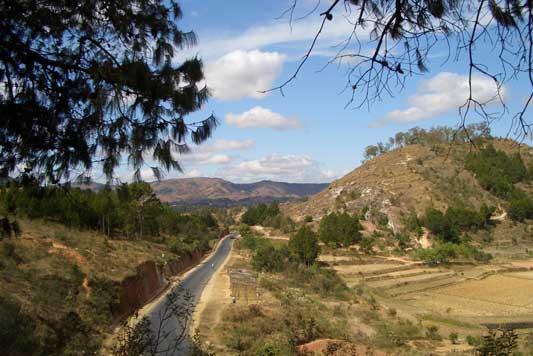 Landschap - Onderweg naar Antsirabe - Madagaskar
